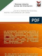 Importancia de Orientación Vocacional. 2017