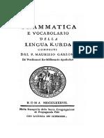 Grammatica e Vocabolario Della Lingua Kurda