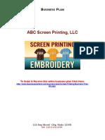 69 Sample Screen Printing Business Plan Sample