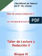 Cuaderno de Trabajo de Taller de Lectura y Redacción II