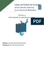 Clasificación de Polímeros Según Su Cristalinidad
