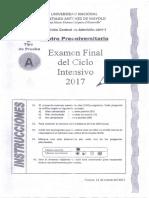 CPU UNASAM - EXAMEN FINAL DEL CICLO INTENSIVO 2017 (CIENCIAS).pdf