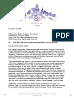Garcetti's Letter to the SCAQMD regarding Tesoro refinery Merger