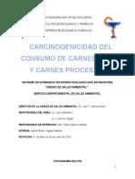 Carcinogenicidad Del Consumo de Carnes Rojas y Carnes Procesadas