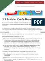 1.5. Instalación de Bazaar