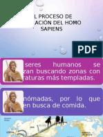El Proceso de Migración Del Homo Sapiens