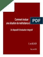 Bis - Comment Evaluer Une Situation de Maltraitance Denfant - Paris Mai 2016 Lecture Seule