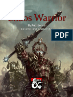 Chaos Warrior Homebrew 5e