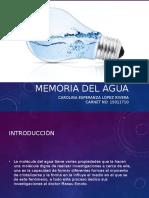 Memoria Del Agua