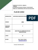 Plan Curso de Negocios Internacionales