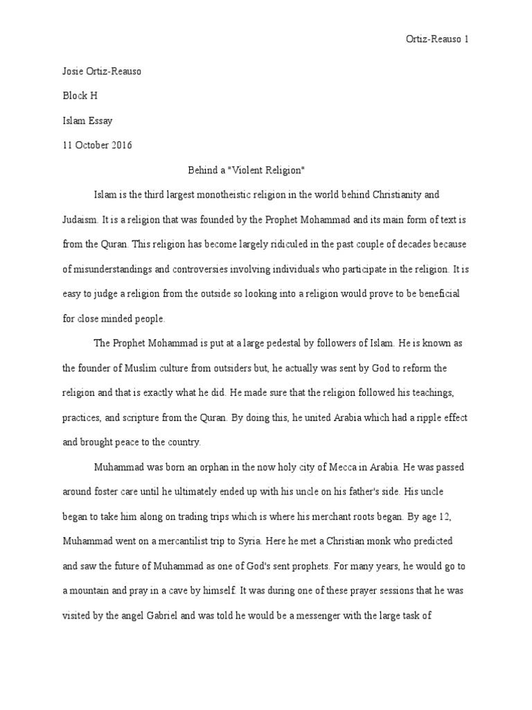 religion essay muhammad prophet