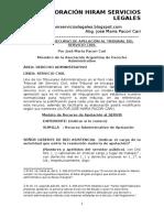Modelo de Recurso de Apelación Al Tribunal Del Servicio Civil - Autor José María Pacori Cari