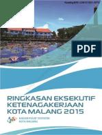 Ringkasan Eksekutif Ketenagakerjaan Kota Malang Tahun 2015