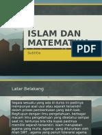 Islam Dan Matematika