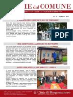 Notizie Dal Comune di Borgomanero del 30 Marzo 2017