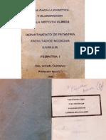 Guía para la práctica y elaboración de la historia clínica UNMSM, 1992, Dra. Armida Quiñones (II)