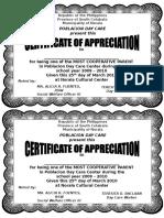 Mamang Certificate