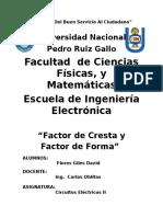 Factor de Cresta y Factor de Forma