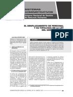 El Desplazamiento de Personal y Su Tipología en La Ley Del Servicio Civil - Autor José María Pacori Cari