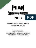 Plan Supervisin Monitoreo 2013[1]