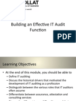 Building an Effective IT Audit Function