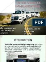Inter Vehicle Communication