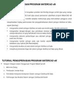 Langkah-langkap Penggunaan Program Watercad v8i