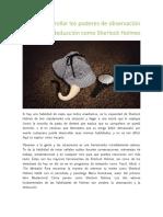 Como Desarrollar Los Poderes de Observación y Deducción Como Sherlock Holmes