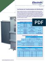Las Normas de Transformadores de Distribución
