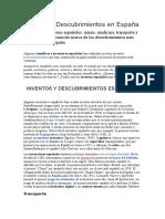 Inventos y Descubrimientos en España