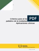 Criterios Para El Tratamiento Paliativo de Metastasis Oseas