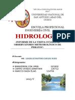 Informe Sobre La Visita Guiada a La Estacion Meteorologica de Perayoc