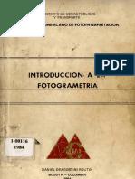 Introduccion a La Fotogreametria