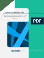 Regression Planner Whitepaper