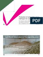 Production of Carbon Fibres From Kraft Lignin