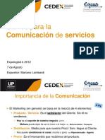Claves Para La Comunicacion de Servicios - MBA Mariano Lombardi
