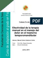 Manejo Del Dolor en Ttm - Calahorrourena,Manuelcarlos