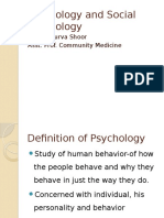 Psychology and Social Psychology