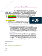 Marketing Management Study Notes - The ANSOFF