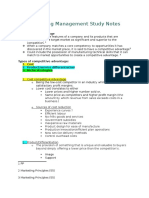 Marketing Management Study Notes COMPETITVE ADVANTAGE