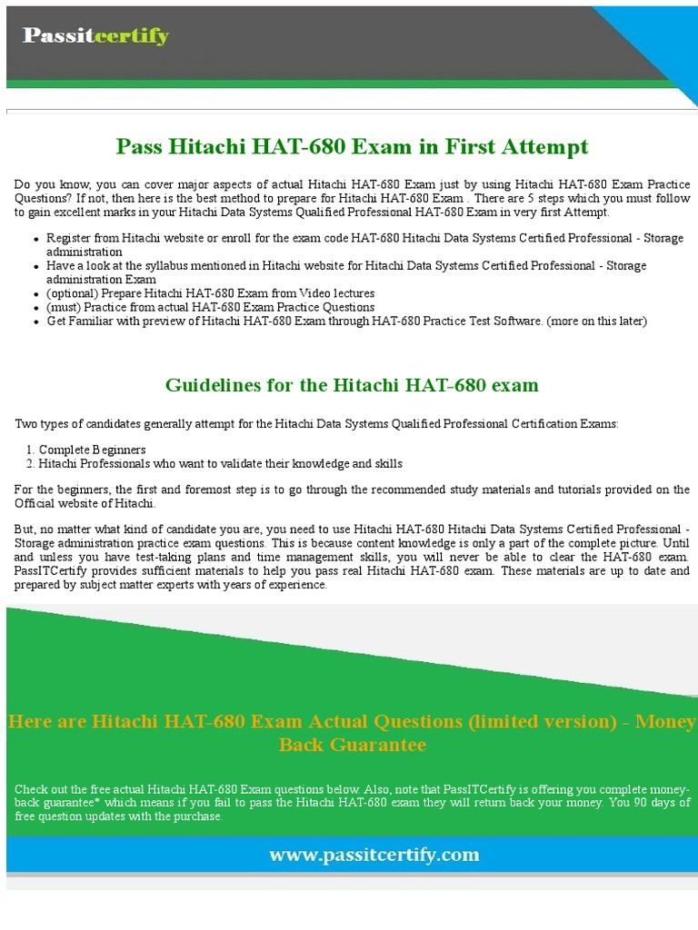 hitachi hat. free new hat-680 hitachi data systems certified professional - storage administration exam dumps | test (assessment) digital technology hat s