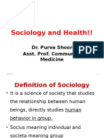 Sociology and Health!!