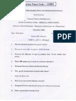 CS2351 AI Question Paper November December 2012