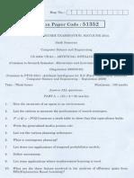 CS2351 AI Question Paper May June 2014