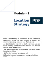 Module 2 - Location Strategy