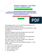 CS 2336.004 Spring 2017 Assignment 1 Class Amp Object Practice Banking Program