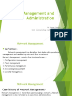 Network Management and Administration