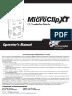GasAlertMicroClip XT OperatorsManual