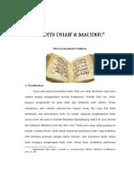 Artikel Hadits Dhaif & Maudhu'