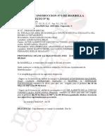 Providencia dictada sobre  Alba Echeverría